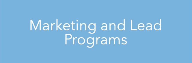 Marketing and Lead Programs